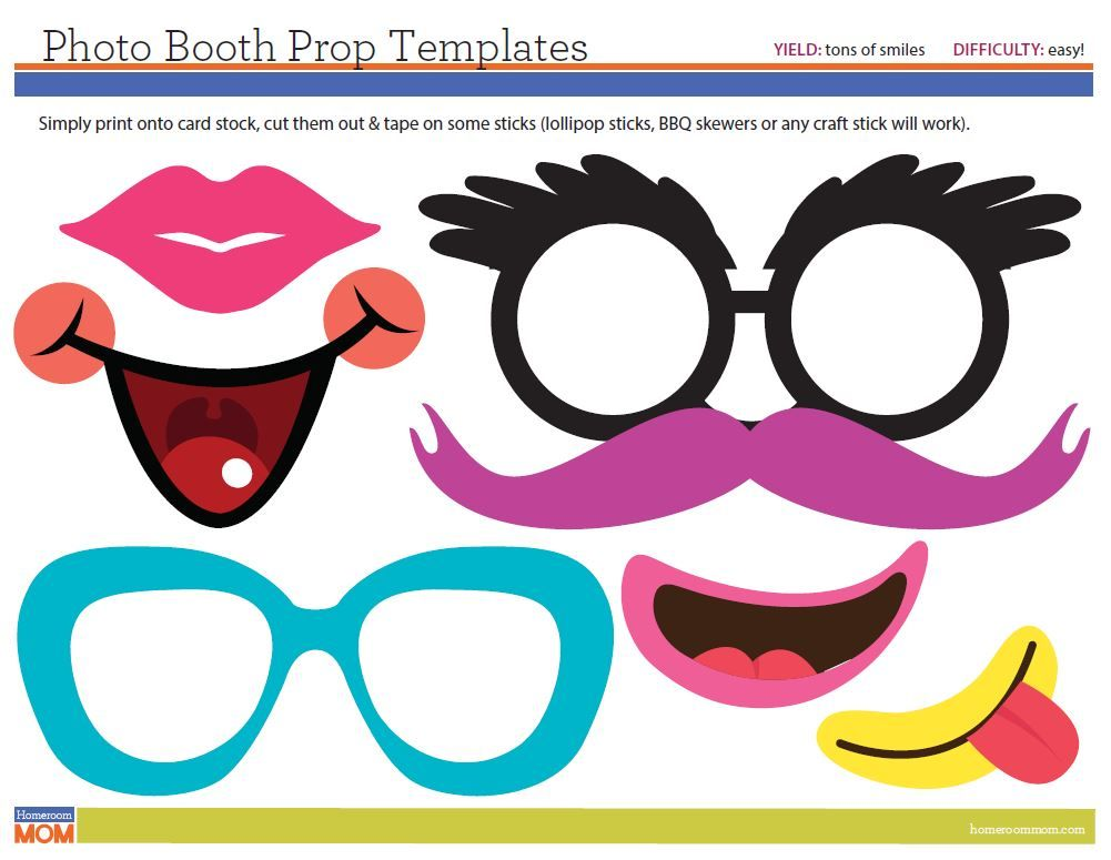templates for photo booth props - diy photo booth at class parties photo booth diy photo