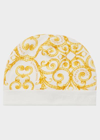 c9b3475a726 Barocco Print Cap - gold Newborn Newborn Outfits