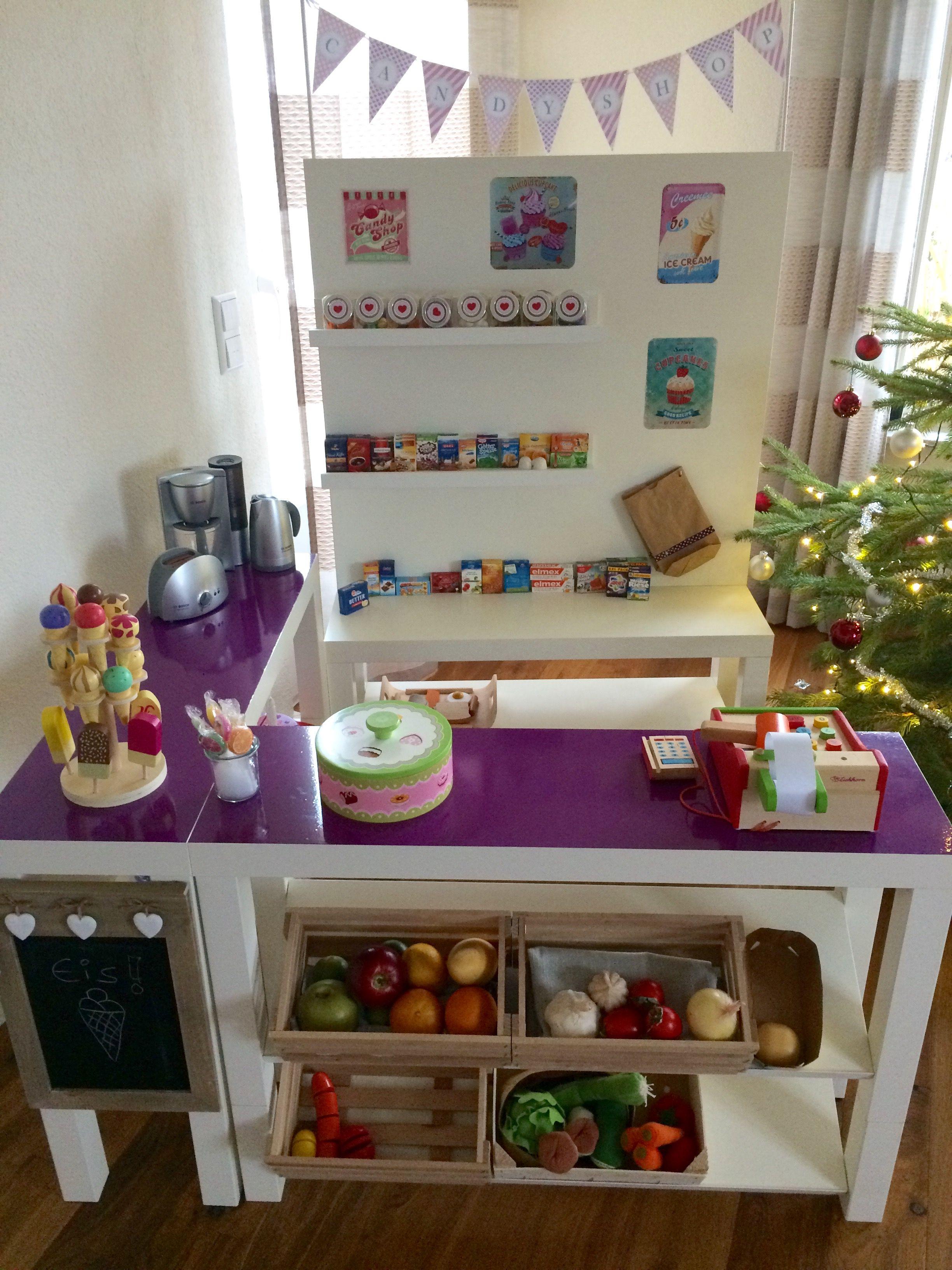 diy kaufladen candy shop ikea hack lack kinderzimmer. Black Bedroom Furniture Sets. Home Design Ideas