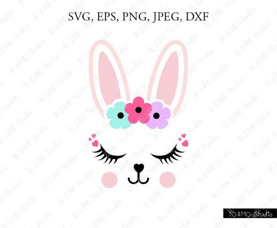 Bunny SVG, Cute Bunny Face Svg, Bunny Clip Art, Bunny Face SVG, Bunny Head SVG, Cricut, Silhouette Cut File Chevrons #programingsoftware