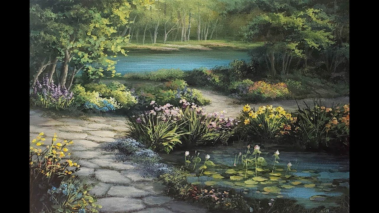Lakeside Garden Paint with Kevin ® YouTube Garden