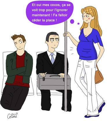 femme enceinte metro humour pinterest humour grossesse grossesse et humour. Black Bedroom Furniture Sets. Home Design Ideas
