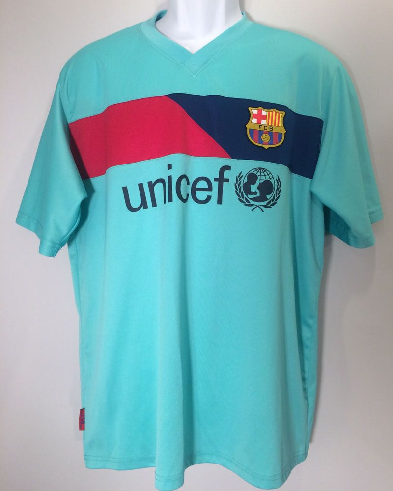 fda0639ae 2010-2011 FC Barcelona Barca FCB Official Futbol Soccer Jersey Shirt Unicef  XL  Nike  FCBarcelona