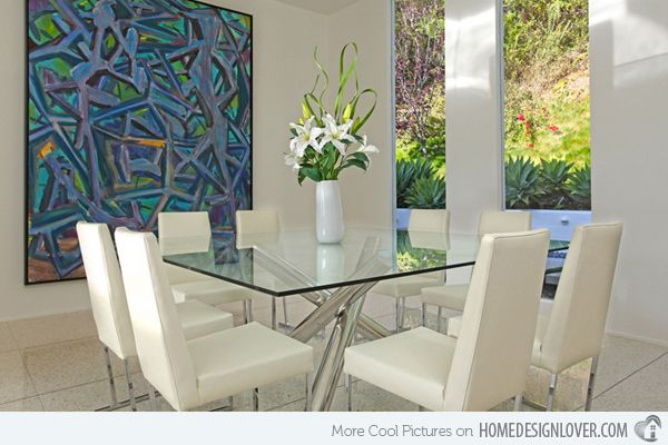 15 Shimmering Square Glass Dining Room Tables Home Design Lover Glass Dining Room Table Square Glass Dining Table Square Glass Dining Room Table