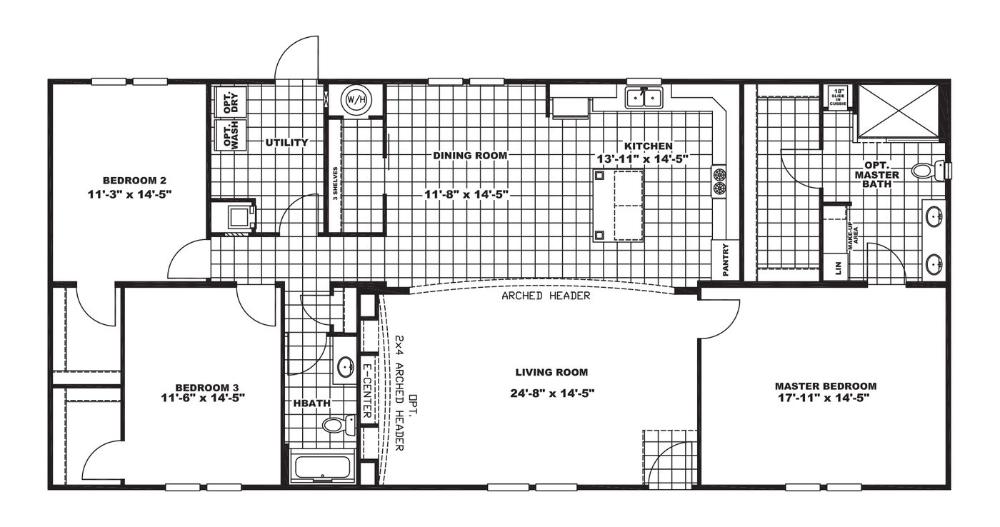 27eln32663ah Norris Homes Clayton Homes Wood Bridge Floor Plans