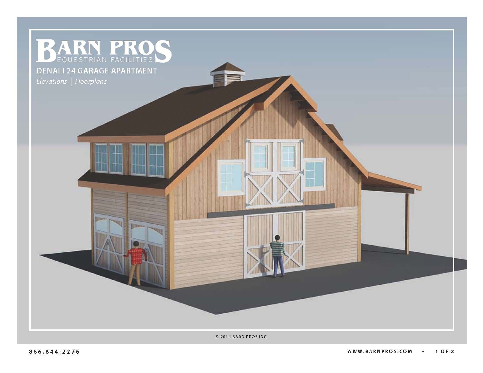 Barn With Living Quarters The Denali Garage With Aptartment 24   Barn Pros