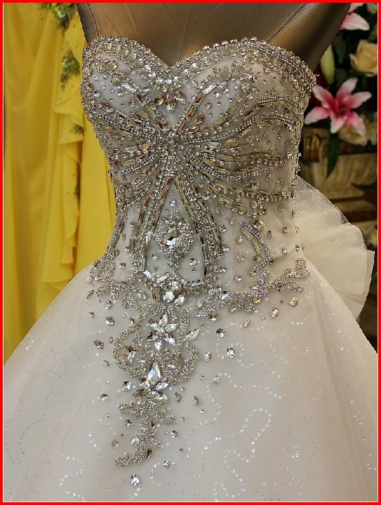 Swarovski Crystals Bridal Wedding Dress