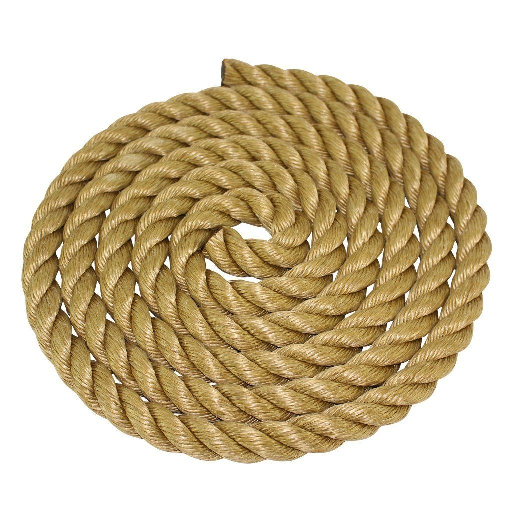 Sgt Knots Promanila Rope 1 4 Inch 2 Inch Unmanila Tan Twisted 3 Strand Polypropylene Cord Moisture Uv And Chemical Res How To Make Rope Thick Rope Rope