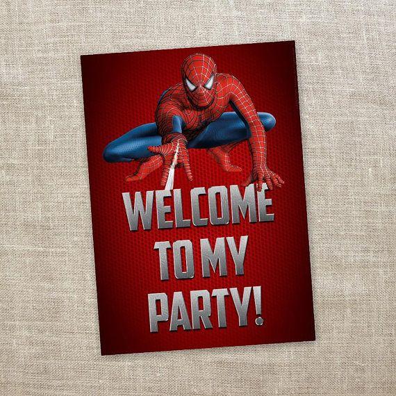 Spiderman Welcome Door Sign With Images Spiderman