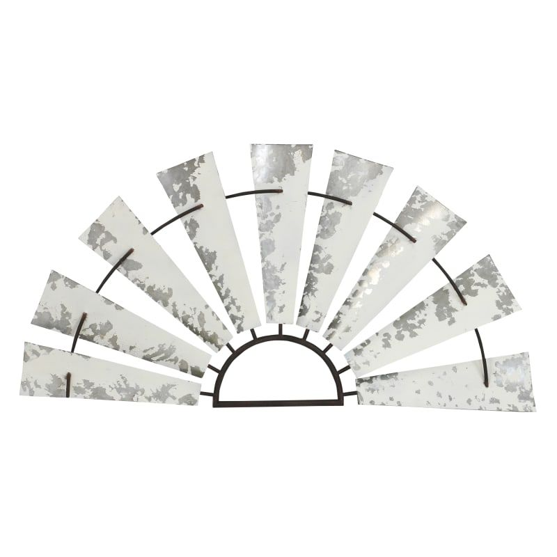Aspire Home Accents 6206 Isola 20 1 2 Inch X 40 Inch Metal Windmill Wall Sculptu White Home Decor Wall Decor Sculptures Windmill Wall Decor Metal Windmill