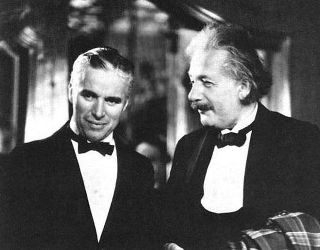 Charles Chaplin and Albert Einstein
