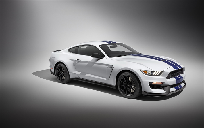 Download Wallpapers Ford Mustang Gt350 2017 White Sports Coupe Tuning Racing Car Mustang Shelby Besthqwallpapers Com Mustang Shelby Mustang Gt 350 Ford Shelby