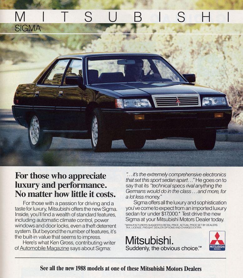 1988 The car that nobody remembers It was a fancy Mitsubishi - craigslist kenosha