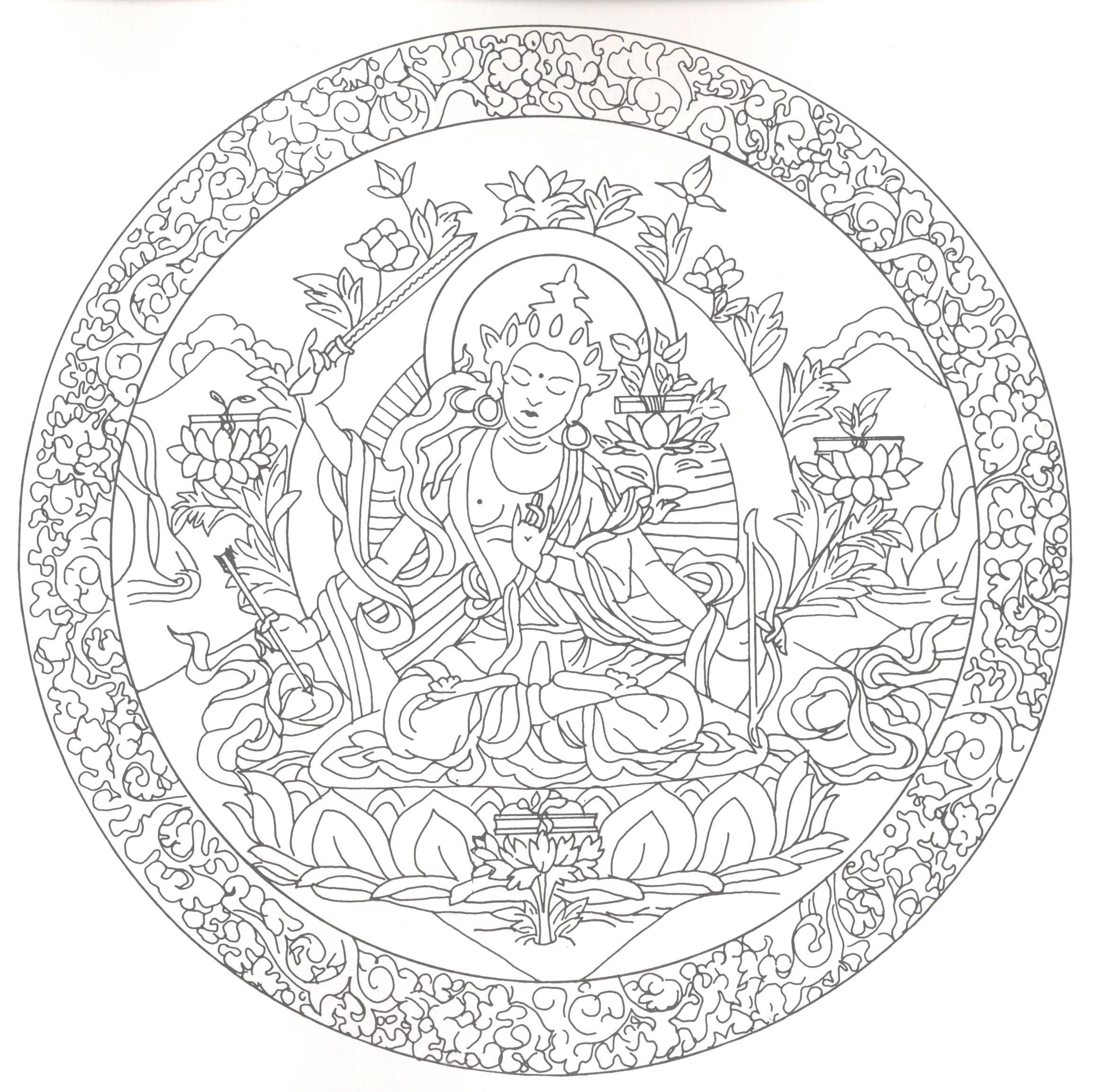 Pin von Katrin Ehbauer auf Buddha gestalten  Mandala malvorlagen