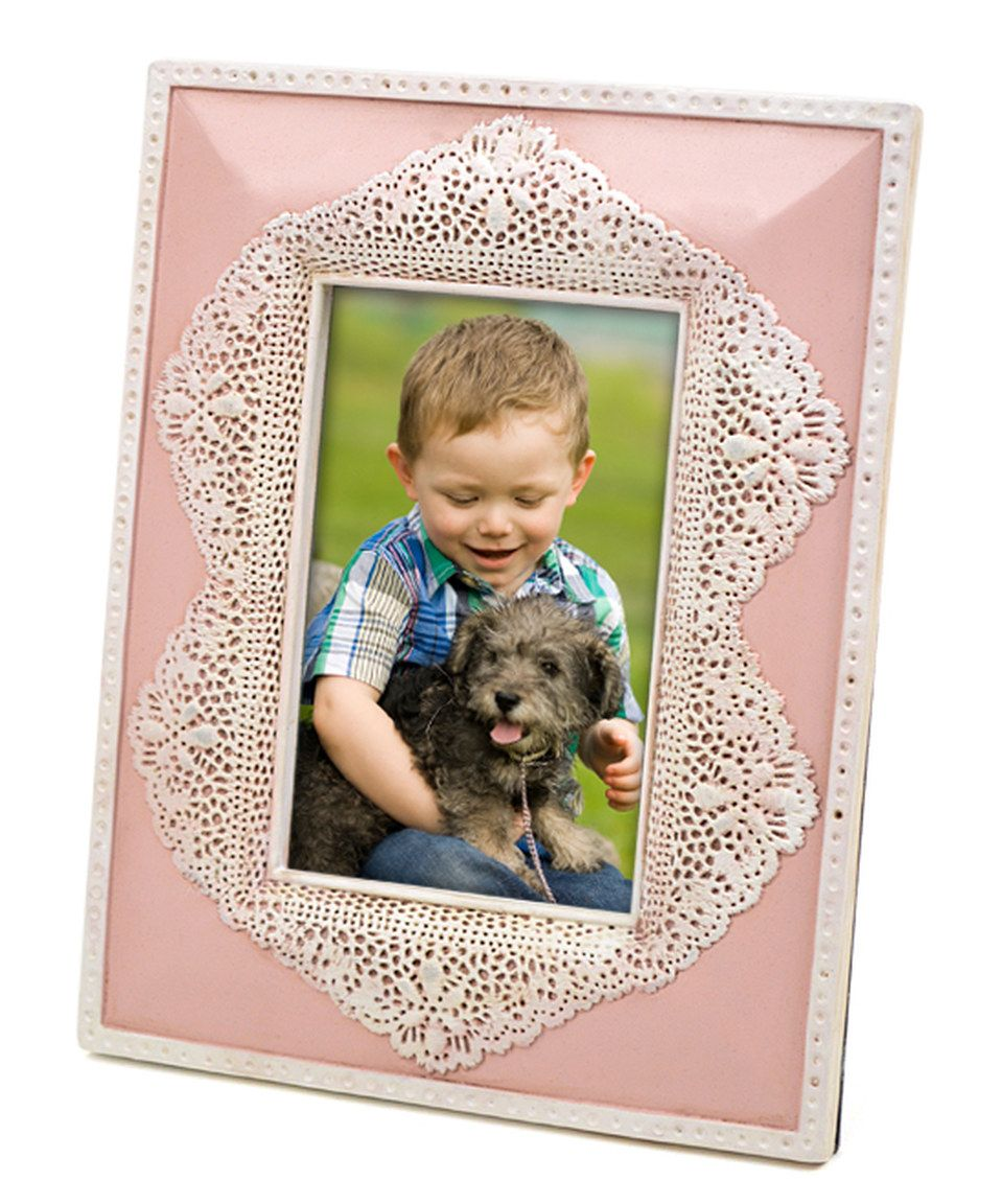 Look At This Zulilyfind Blush Scallop Lace Resin Frame