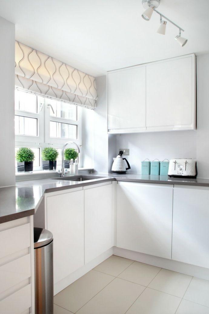 schibegardinen in weißer küche-küchengardinen (mit bildern