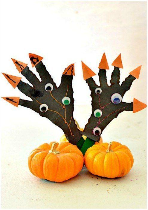 halloween craft for kids Beeld  textiel - stof Pinterest - easy homemade halloween decorations for kids