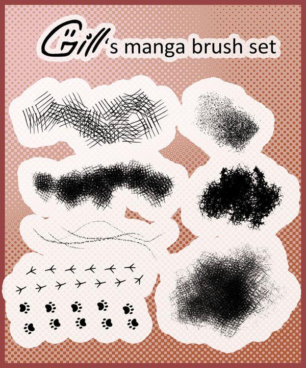Manga brush set for by https//www.deviantart
