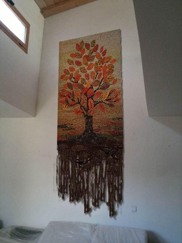 Telar decorativo telares de arboles y paisajes for Murales decorativos paisajes