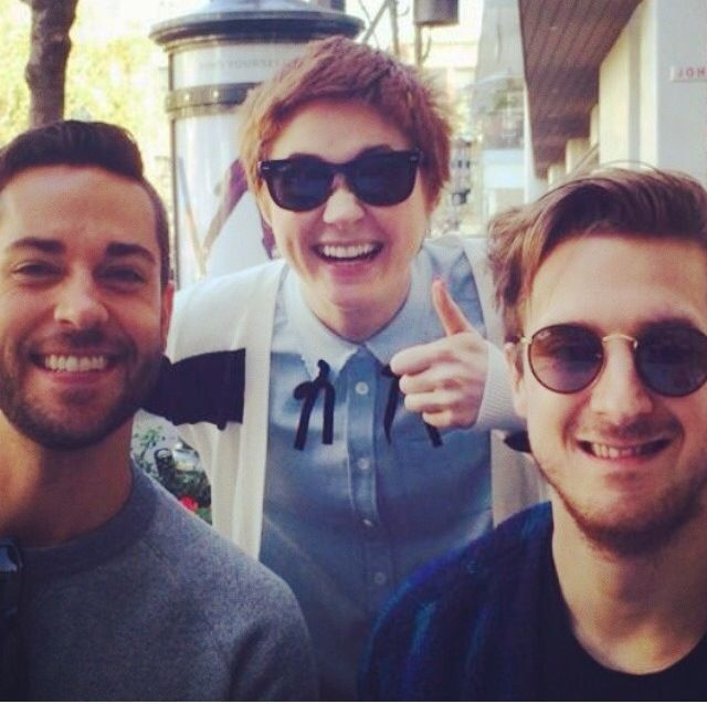 Karen, Arthur and some other guy.<<< I think the other guy is Zachary Levi!!