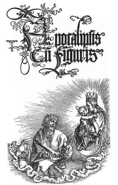 Albrecht Durer - , The Revelation of St John: Title page to the second Latin Edition of 1511