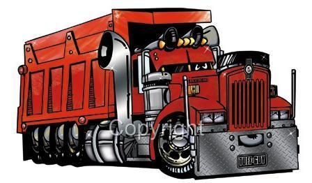 Details About Dump Truck Hauler Kenworth Big Rig Cartoon T Shirt