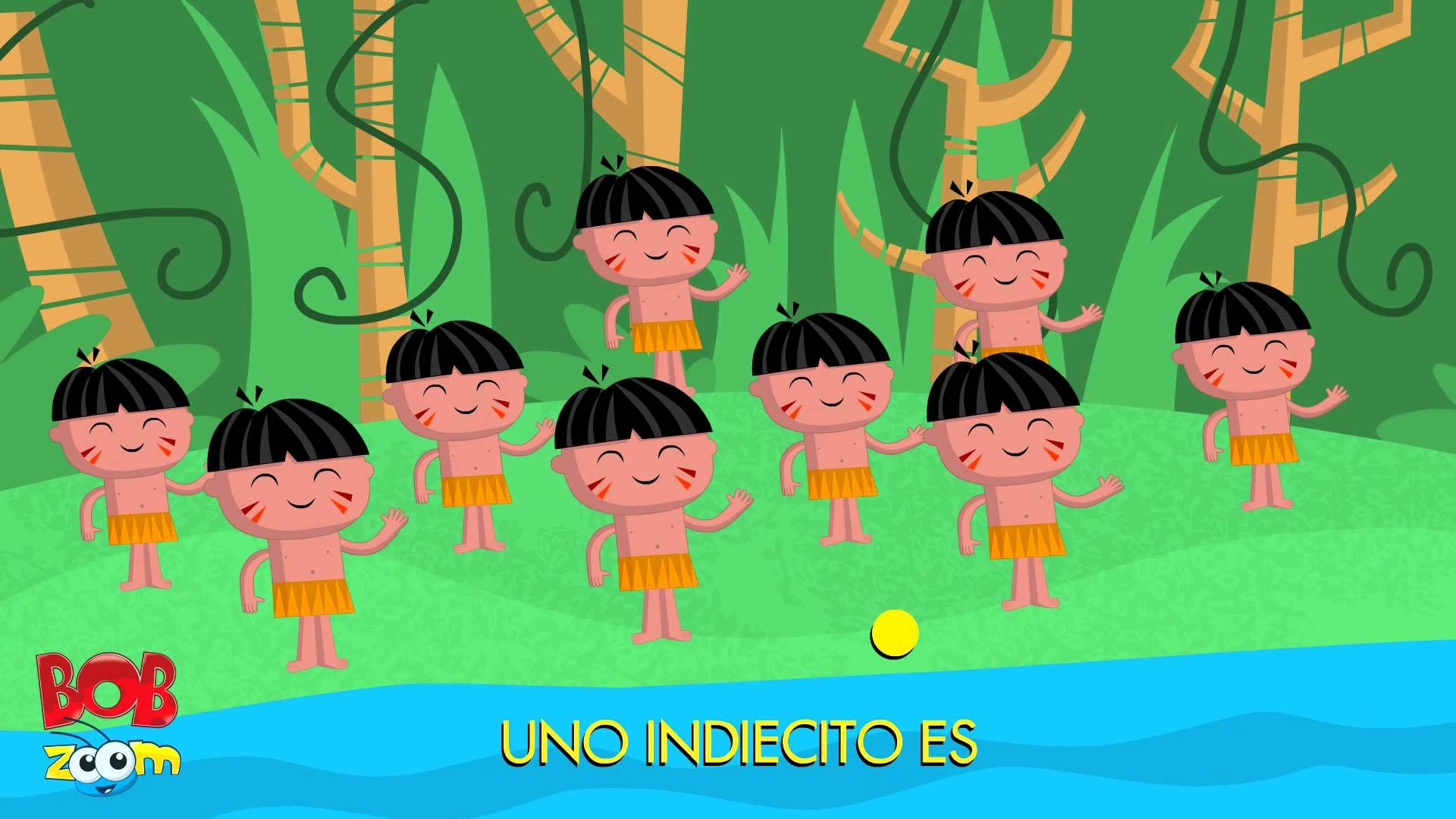Los Diez Indiecitos Bob Zoom Video Musical De Ninos Espanol