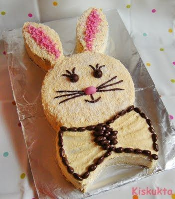 Low Pressure cooker cake: Bunny Cake