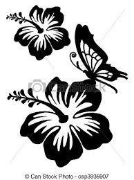 R sultat de recherche d 39 images pour dessin fleur hibiscus Fleur noir et blanc