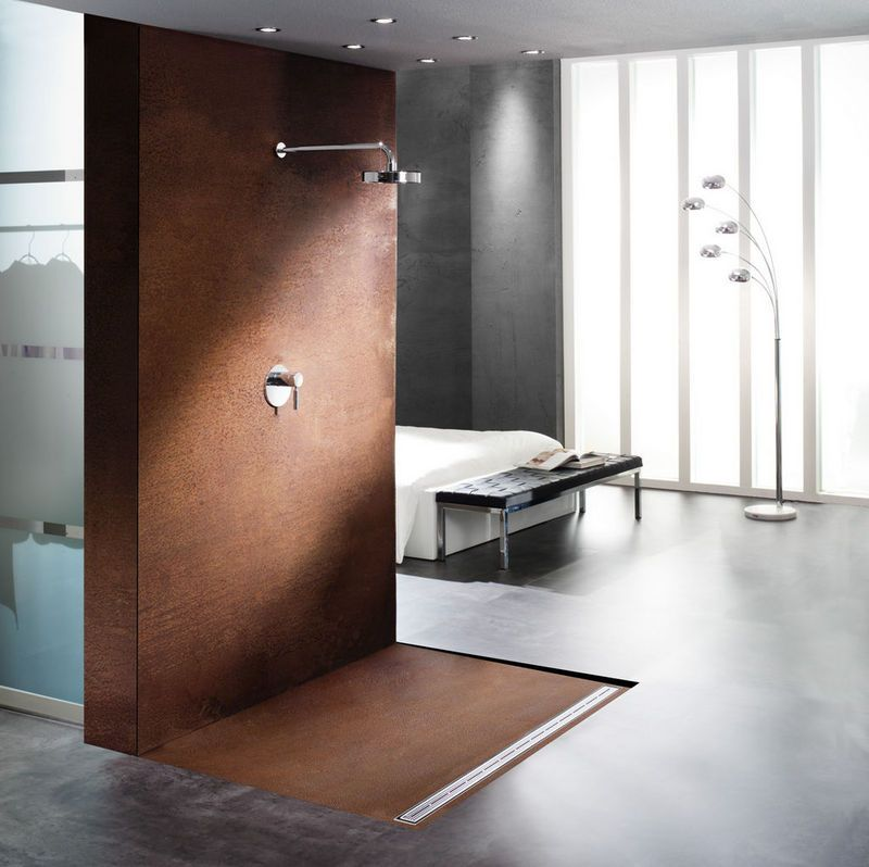 dusche aus cortenstahl haus pinterest cortenstahl. Black Bedroom Furniture Sets. Home Design Ideas