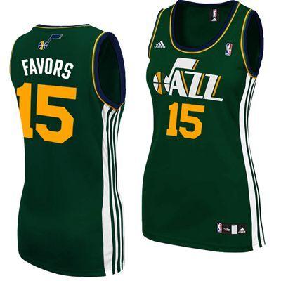 the latest dab22 7e219 Utah Jazz Derrick Favors #15 Adidas Women's Replica NBA ...