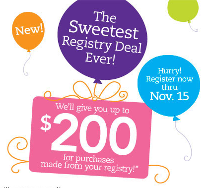 Babies R Us Sweetest Registry Deal Ever Plus 50 Gift Card Giveaway Giveaway At Girlgonemom Com Gift Card Giveaway Baby Freebies New Baby Products