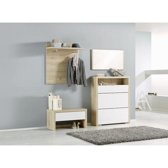 ger umiger voleo schuhschrank eichefarbene wohnidee mit wei er front vorzimmer pinterest. Black Bedroom Furniture Sets. Home Design Ideas