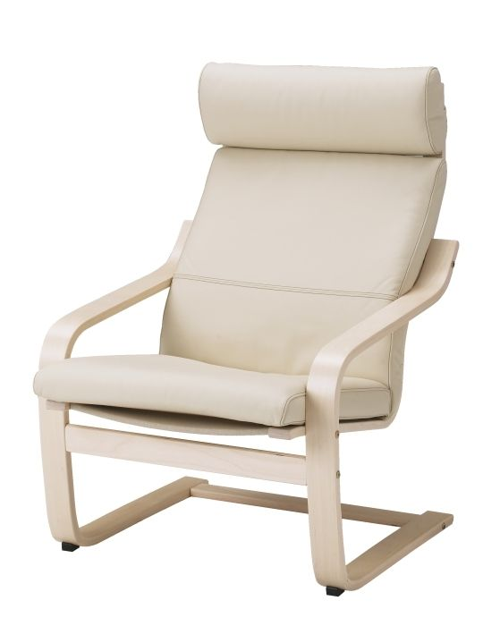 Poang Armchair Glose Off White Seat Width 22 Order Here