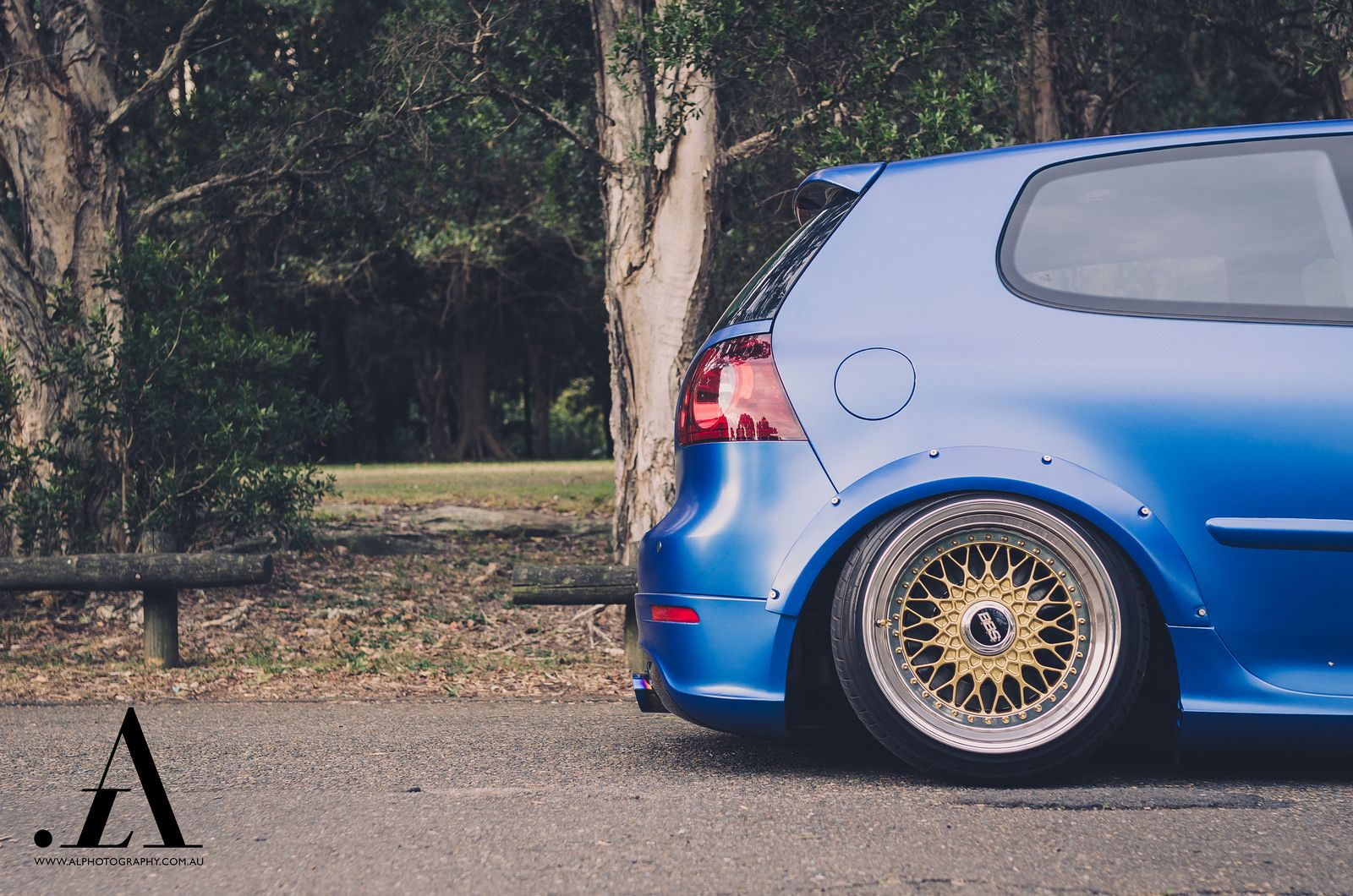 Bagged Golf R32 on BBS RS