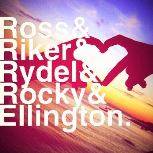 R5 - al the member's names and their special heart!!!