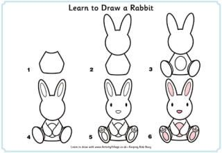 from the heart up free learn to draw printables tutorials for kids - How To Draw Animals Step By Step For Kids Printable