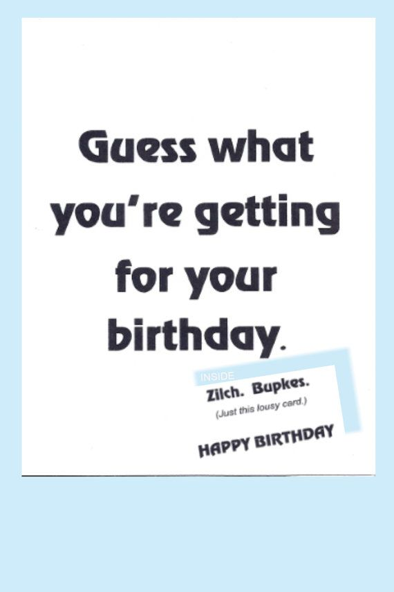 Birthday CARD JEWISH Humor YIDDISH Funny Cute By KrazyCards