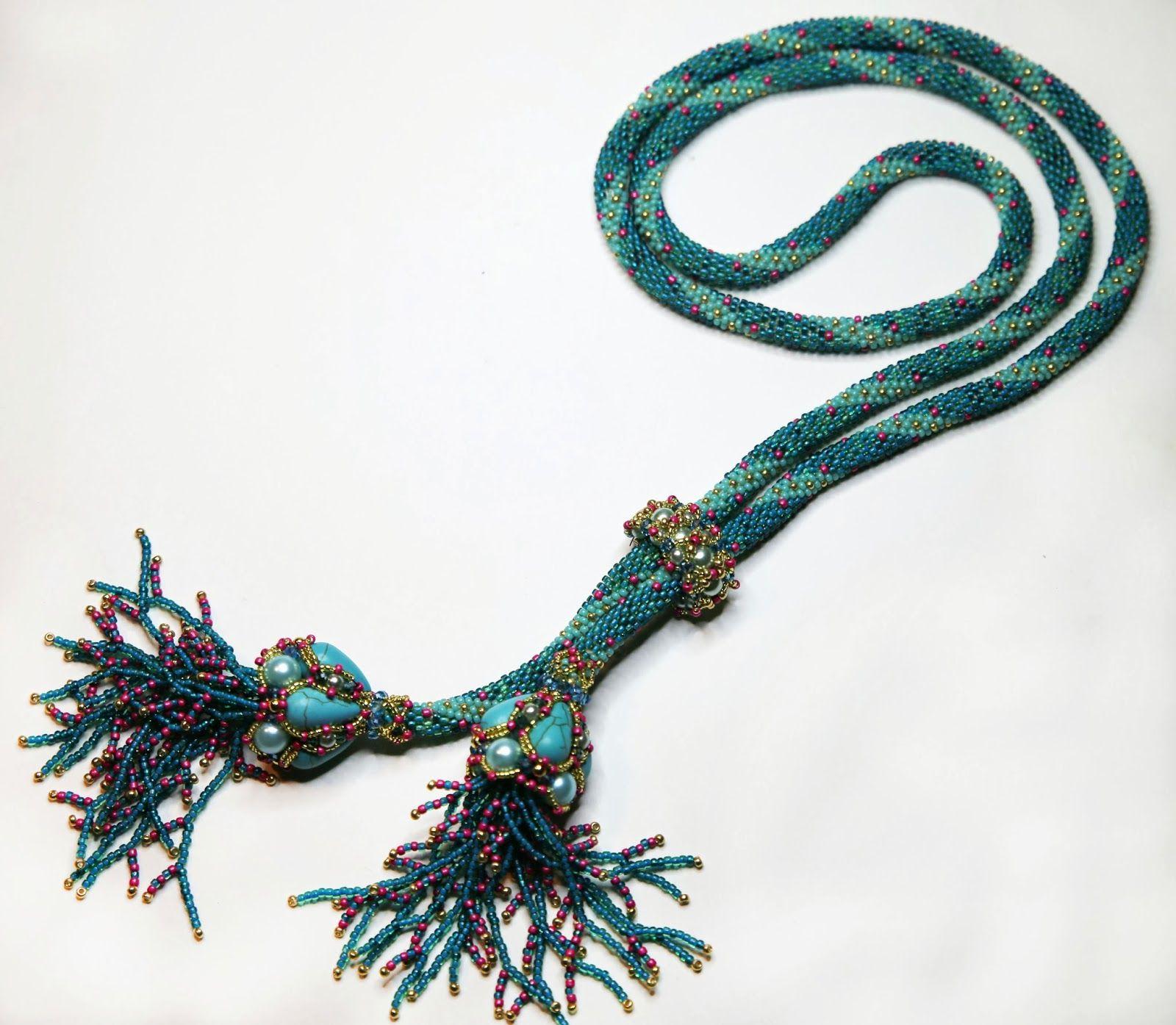 DolcePerlato: Collana lunga a crochet | Biżuteria | Pinterest ...