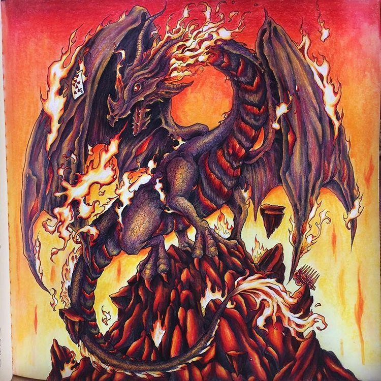 Mythomorphia Kerbyrosanes Coloringbook Dragon My Fire And Lava