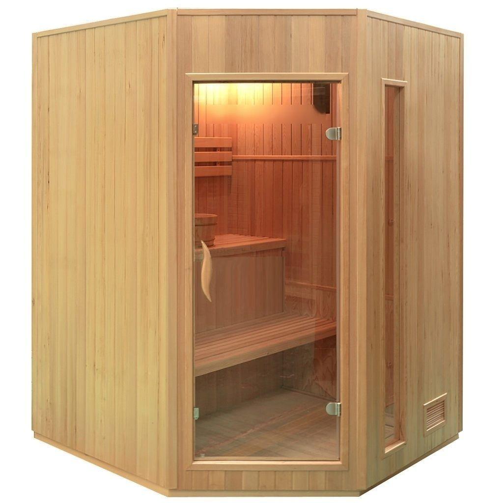 Traditionelle Saunakabine Finnische Sauna 150x150 4 5 Kw Infrarotkabine Kabine Saunaofen
