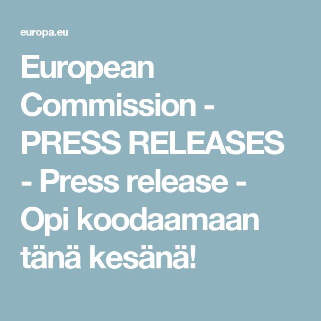 European Commission - PRESS RELEASES - Press release - Opi koodaamaan tänä kesänä!