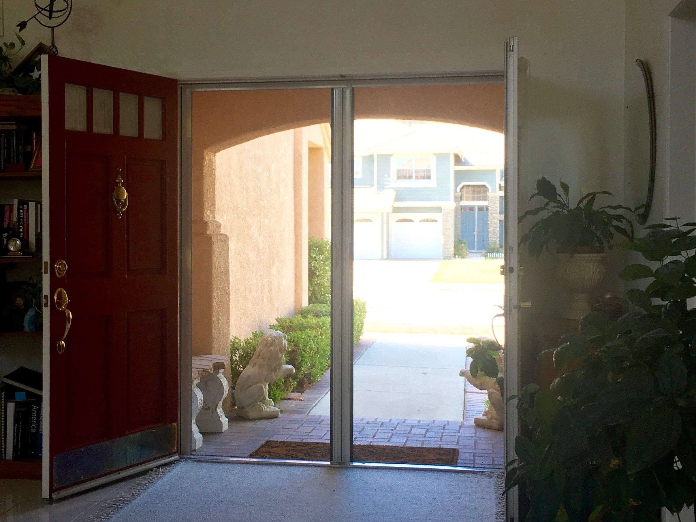 Let The Fresh Air In With Genius Retractable Screen Doors Distributed And Installed By Casco Industrie Retractable Screen Retractable Screen Door Screen Door