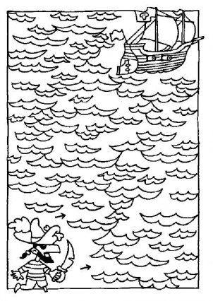 doolhof piraat piraten piraat knutselen kleurplaten
