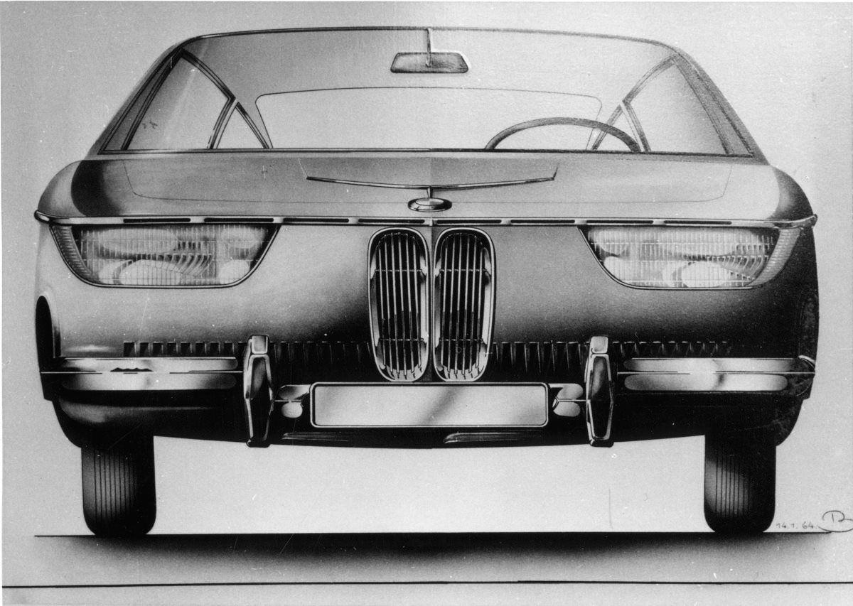 OG | 1965 BMW 2000 CS - E9 / E120 | Design sketch from Georg Bertram ...
