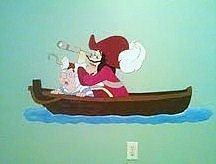 Large Captain Hook and Smee from Peter Pan Hand by speakeasy413, $95.00