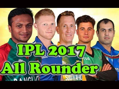VIVO IPL 2017 ○ Top 5 Best Allrounder In IPL 10 ○ IPL 2017 Allrounder -