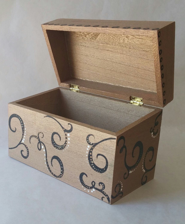 Recipe Box Wooden Recipe Box Hand Painted Box Keepsake Box Treasure Box Memory Box Family Recipes Wood Bo Recipe Box Wooden Keepsake Boxes Painted Boxes