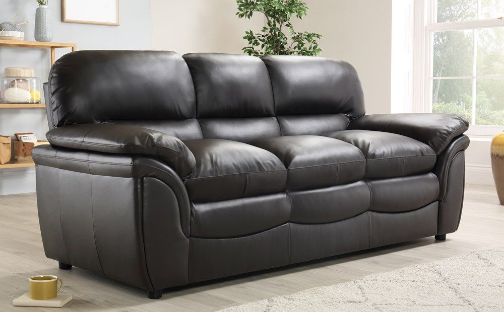 Best Rochester Brown Leather 3 Seater Sofa Leather Corner 400 x 300