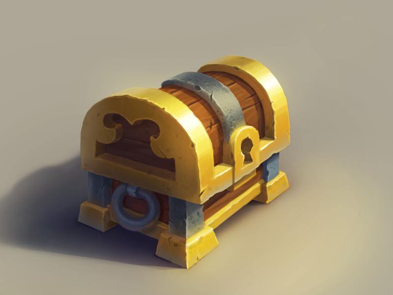 Chest Treasure Game Game Design Prop Design Isometric Art